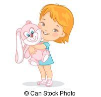 1 year old girl Clipart Vector Graphics. 7 1 year old girl EPS.