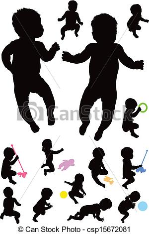 1 year old boy clipart.
