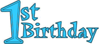 Clipart 1 year old.