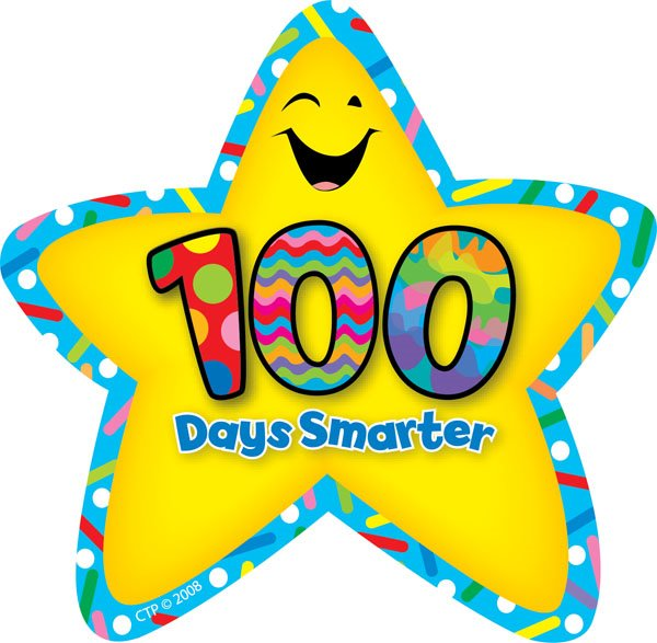 Star Number 100 Clipart.