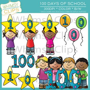 100 Days Of School Clipart#2166192.