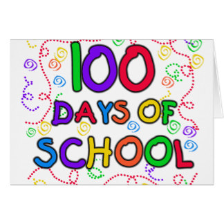 100 Days School Cards.