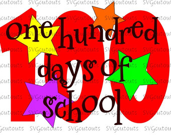 100 days school svg.
