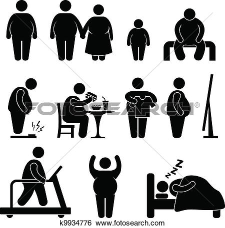 Obesity Clip Art and Illustration. 2,699 obesity clipart vector.