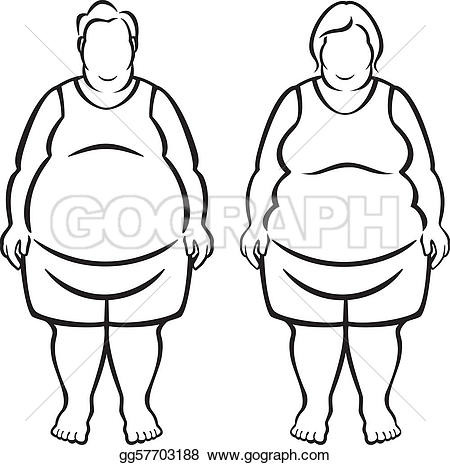 Obese Clip Art.