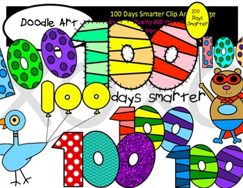 100 Days Smarter Clipart Pack.
