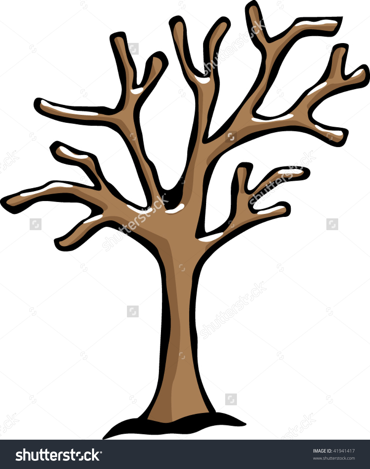 Tree In Winter Clipart.