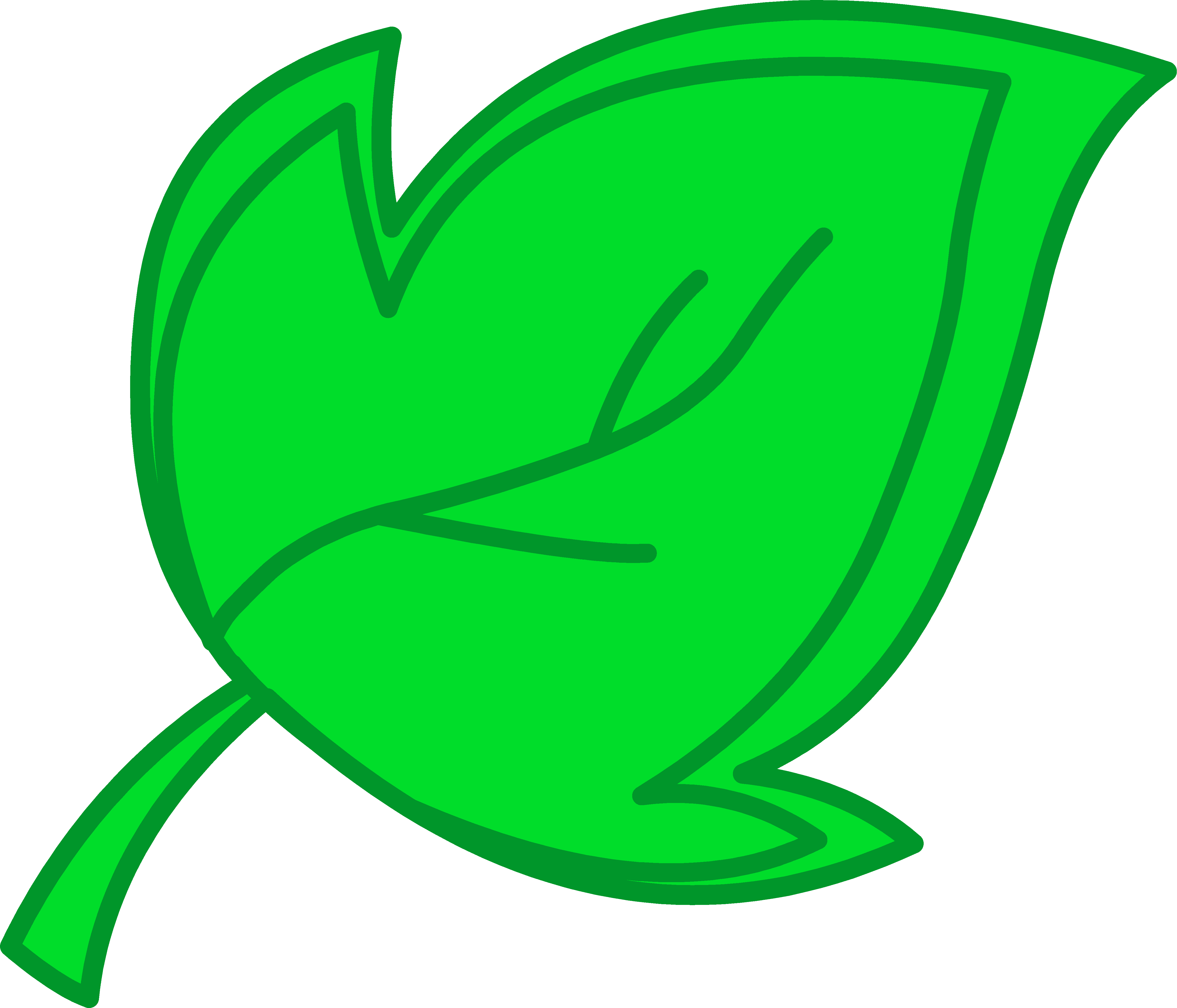leaves clipart green object #118.