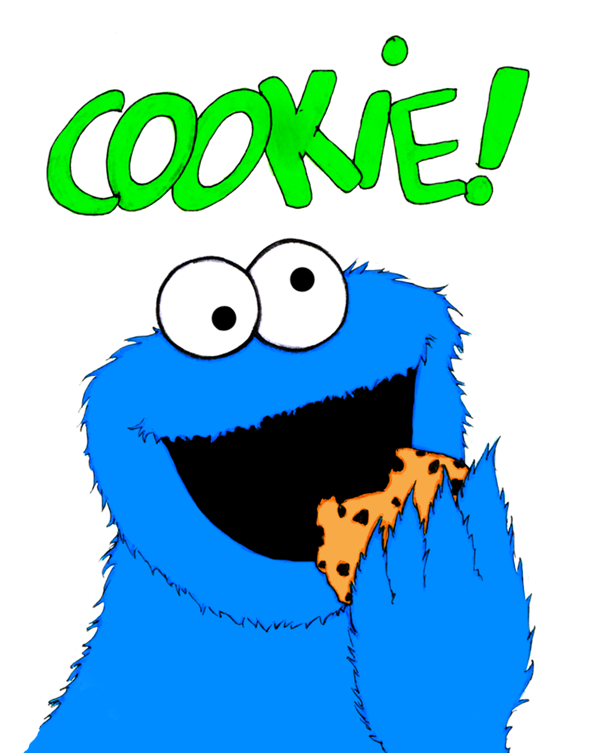 Cookie monster clip art free clipart images 12.