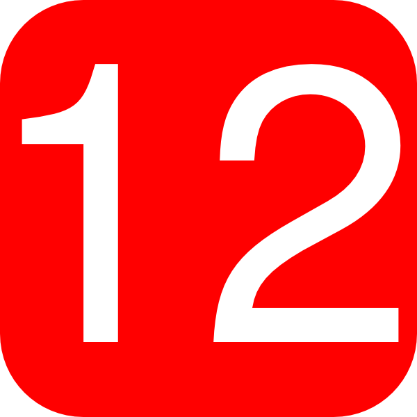 Red, Rounded, Square With Number 12 Clip Art at Clker.com.