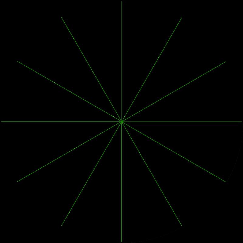 Free Clipart: 12 segment circle.