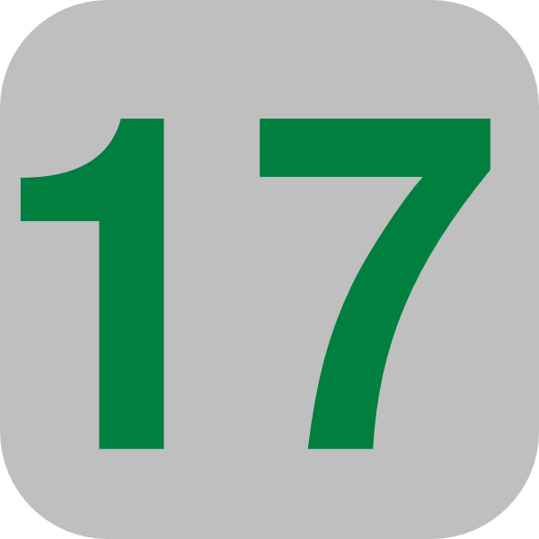 Number 17 Grey Flat Icon Clip Art at Clker.com.