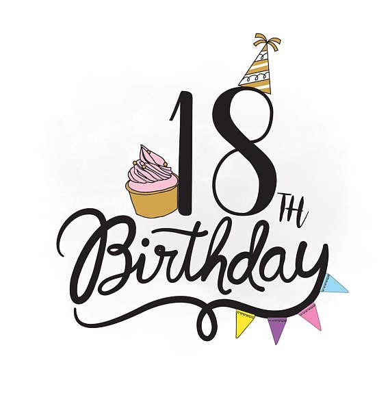 18 Birthday Clipart.