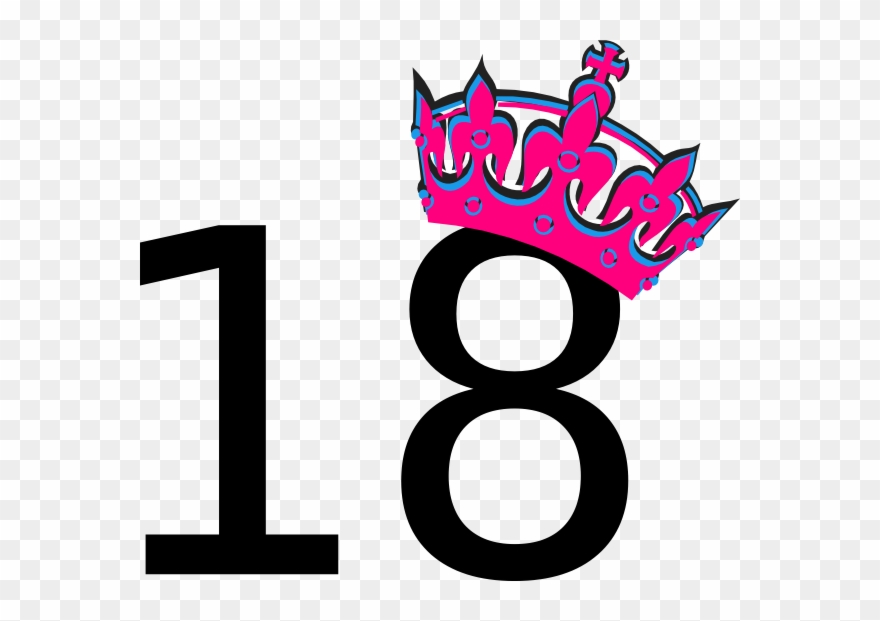 Pink Tilted Tiara And Number 18 Clip Art At Clker.