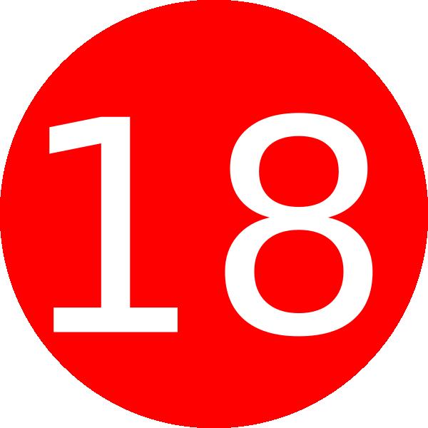 Number 18 Red Background Clip Art at Clker.com.