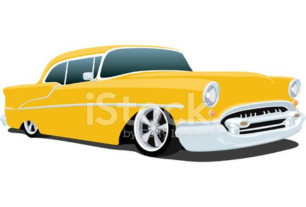 Classic 1955 Chevrolet Bel Air Clipart Image.