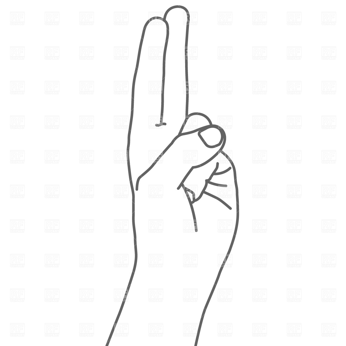 Two Fingers Clipart.