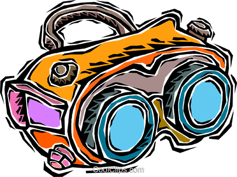 702 Goggles free clipart.