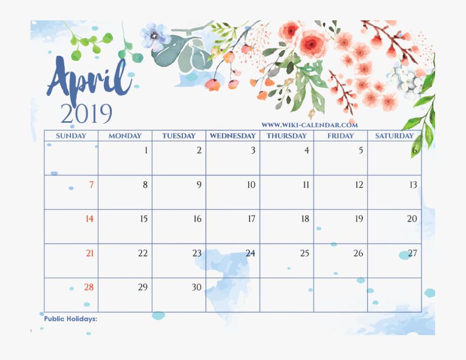 May 2019 Calendar Printable.