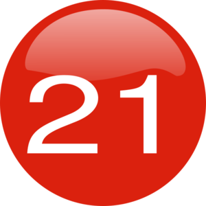 Number 21 Button Clip Art at Clker.com.