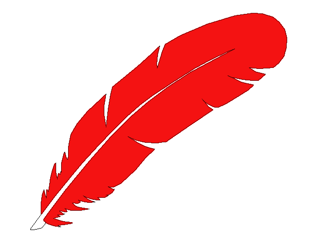 Red feather clipart (25 ).