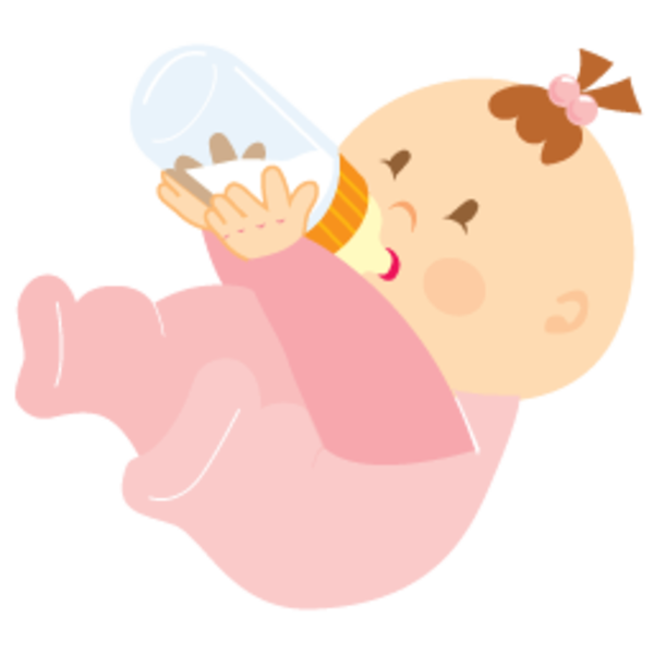 Baby Girl Drinking 256.
