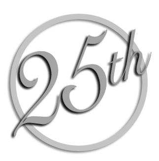 25th Anniversary Clipart.