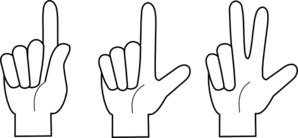Three Fingers Clipart.