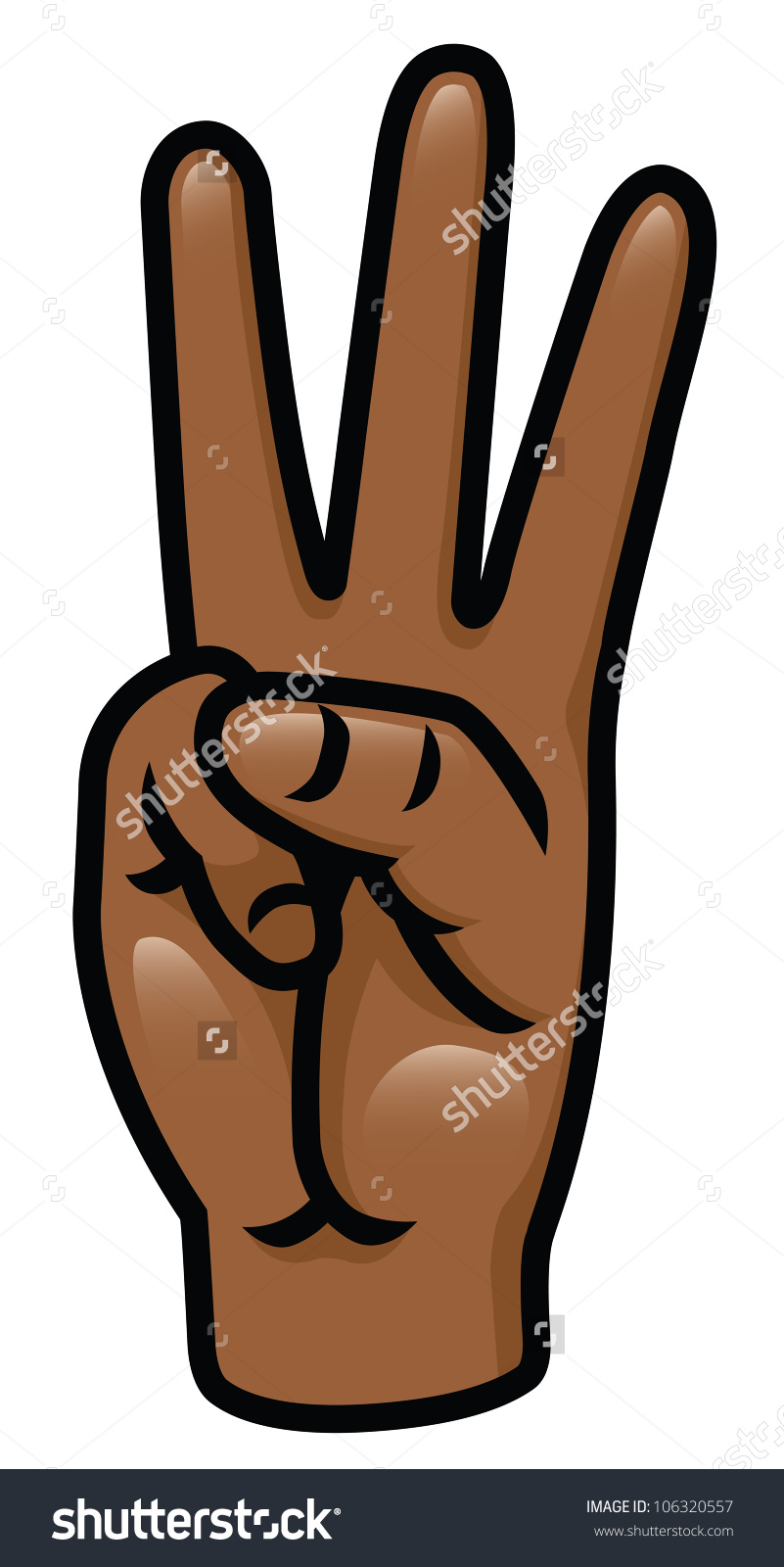 Showing post & media for Cartoon number three fingers.