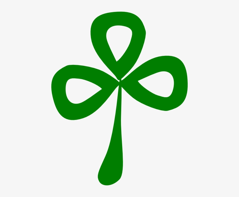 Three Leaf Clover Clip Art.