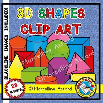 3d shapes clipart (math clip art).