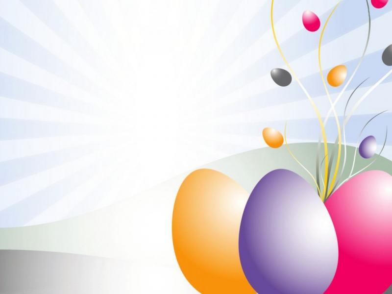 PPT Easter Eggs Clipart 3D Design PPT Wallpaper Backgrounds.