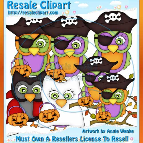 Halloween Owls Clipart Semi.