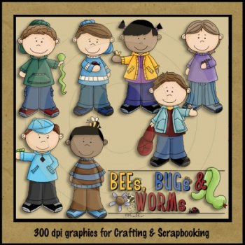 Bees, Bugs and Worms by Clipart 4 Resale.