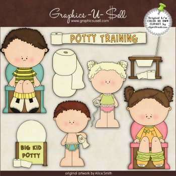 Potty Training by Clipart 4 Resale.
