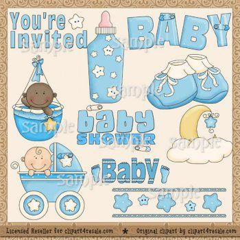 Baby Shower (Blue) by Clipart 4 Resale (Whimsy Primsy).
