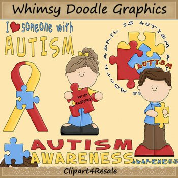 Autism Awareness by Clipart 4 Resale.