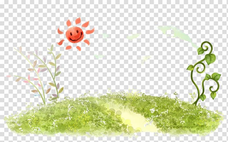 Green plant illustration, High.