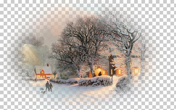 Winter Snow Christmas Desktop 4K resolution, fantasy winter.
