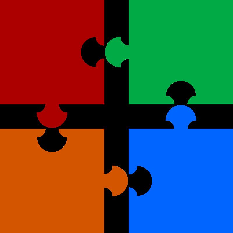 Puzzle piece puzzle clip art image.