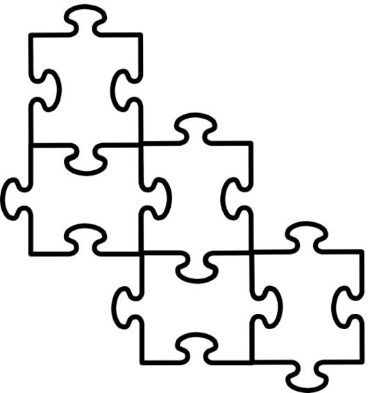 Template Of Puzzle Pieces.