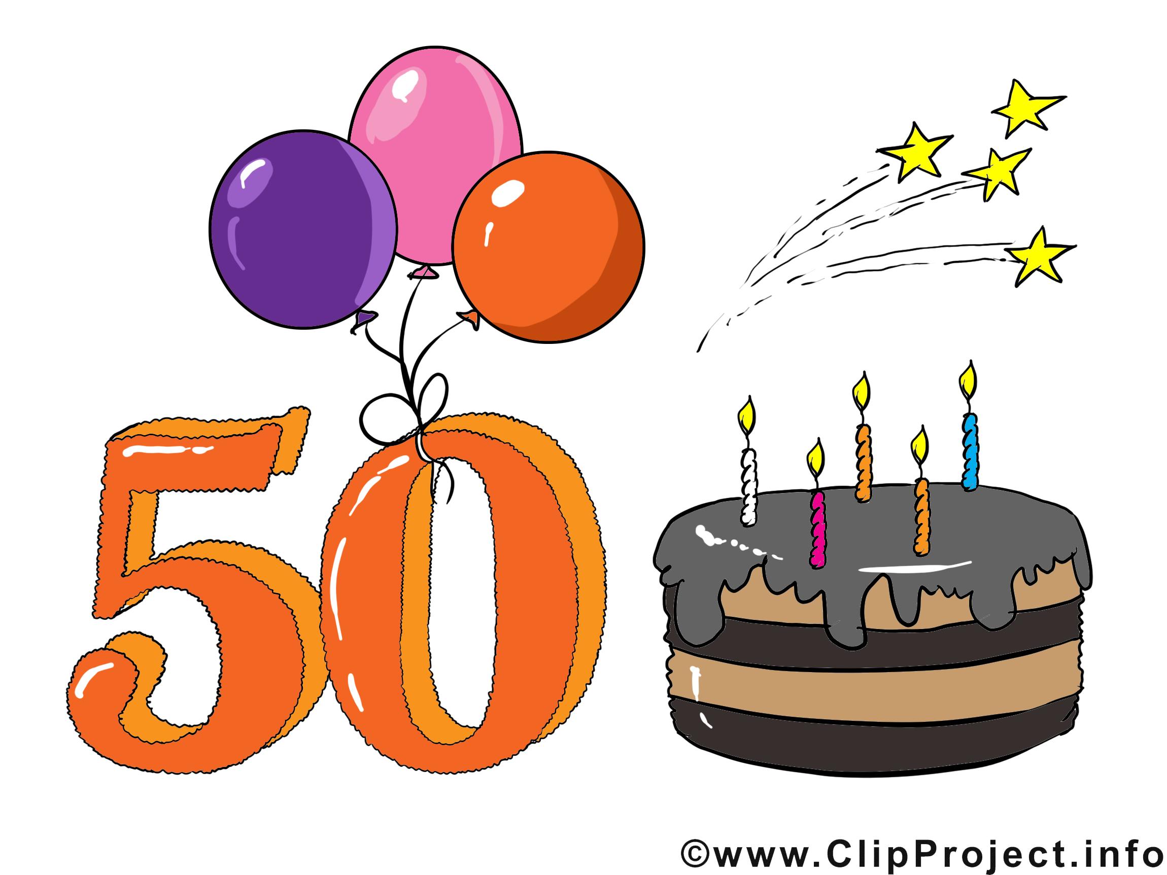 Clipart 50 geburtstag 15 » Clipart Station.