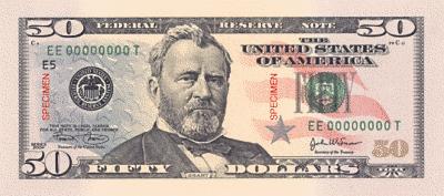 US 50Dollar front.