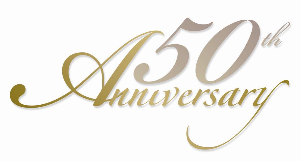 50 Year Anniversary Clipart.