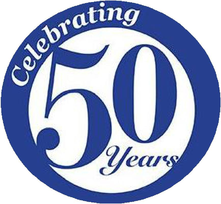 Celebrating 50 Years Clipart.