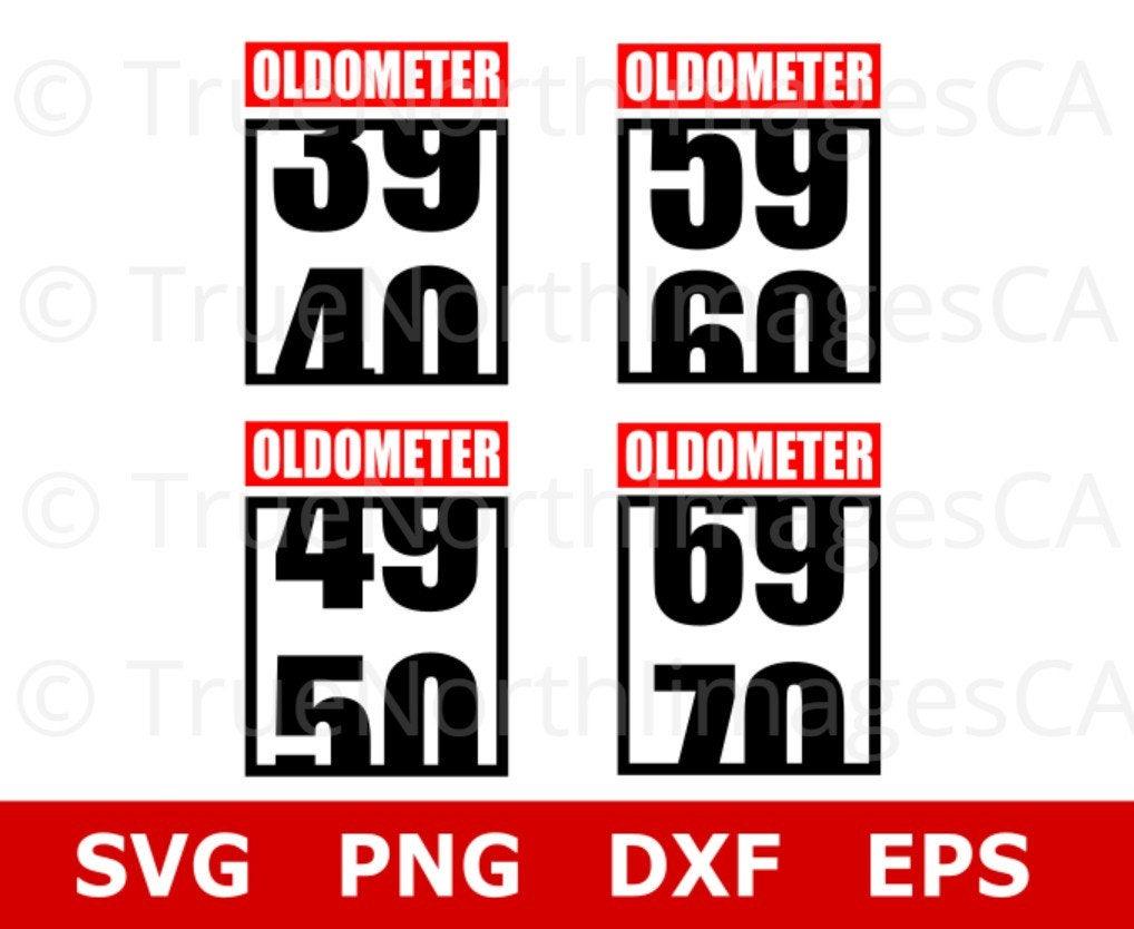 Birthday Vector / 40th Birthday SVG / 50th Birthday SVG / 60th Birthday Svg  / Birthday Clipart / Svg Files for Cricut / Silhouette.