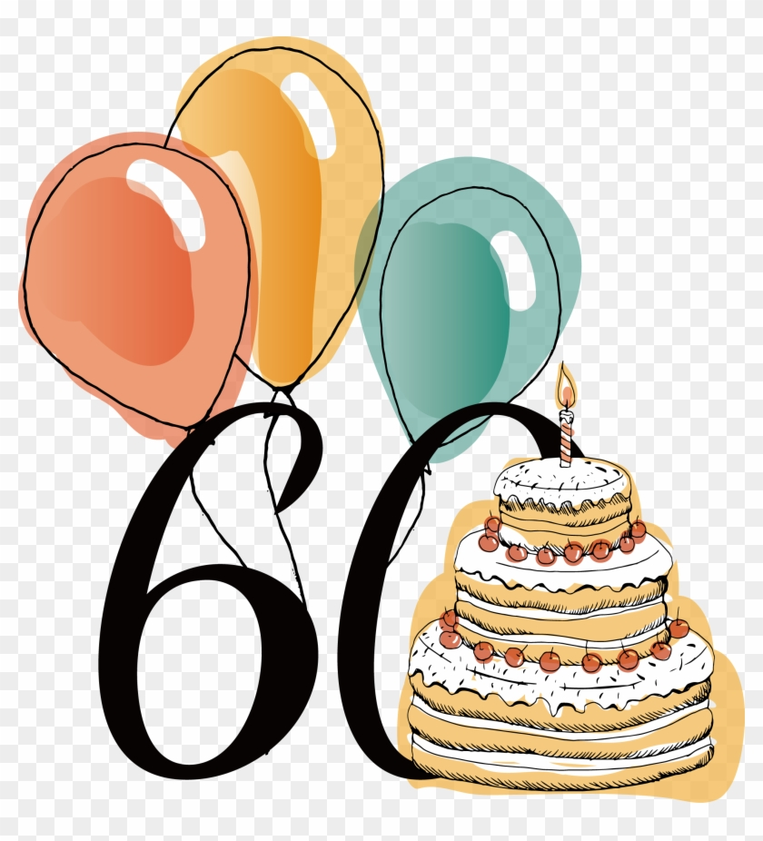60th Anniversary Birthday Vector 2146*2265 Transprent.