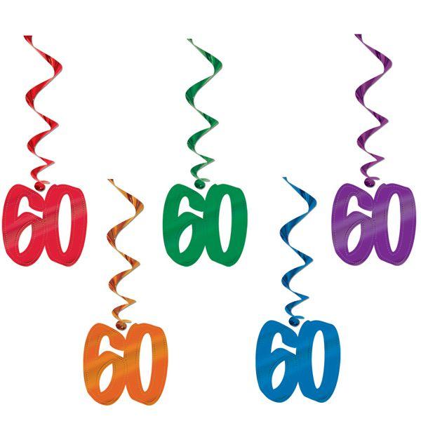 60th Birthday Giant Dangling Cutouts 5ct.