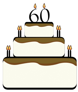 60 Birthday Cake Cliparts.