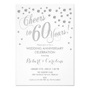 60th Wedding Anniversary Invitation.